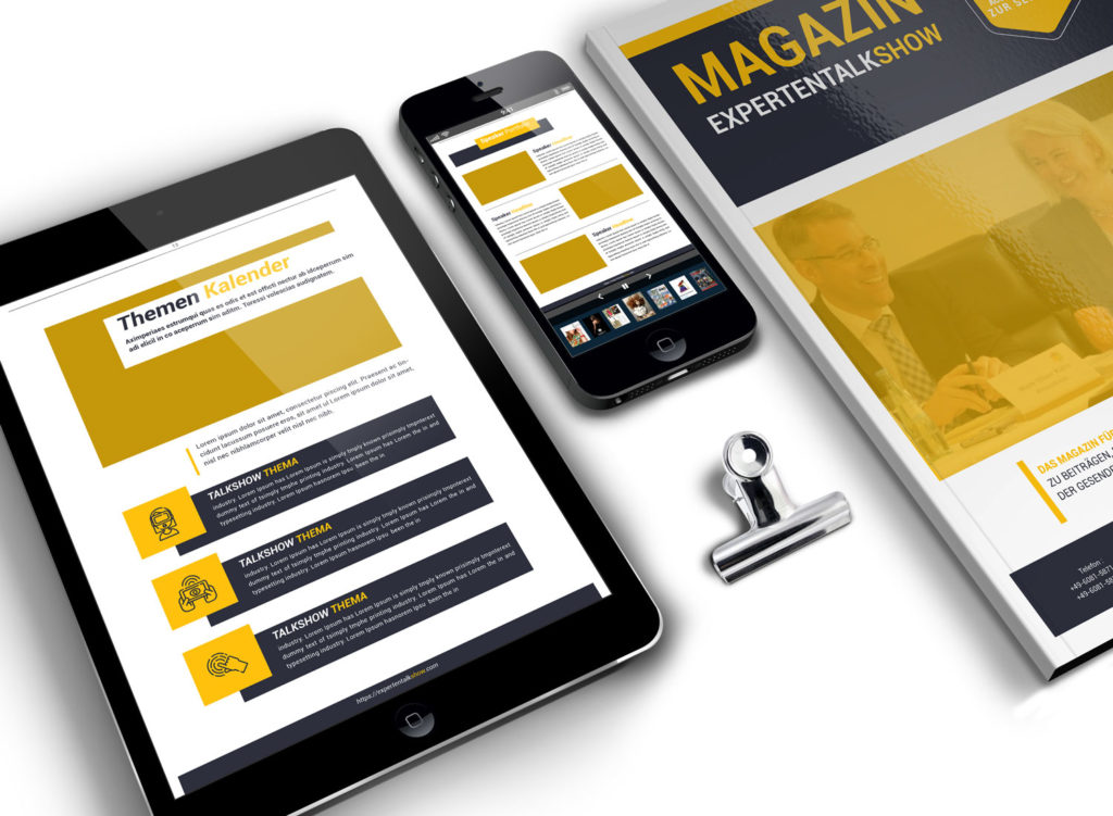 ExptertenTalkShow Magazin / Printversion und als eBook auf mobilen Devices / Demo
