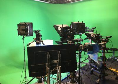 Fernsehstudio Backstage: Das Fernsehstudio vom Fernsehsender rheinmaintv 01