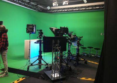 Fernsehstudio Backstage: Das Fernsehstudio vom Fernsehsender rheinmaintv 02