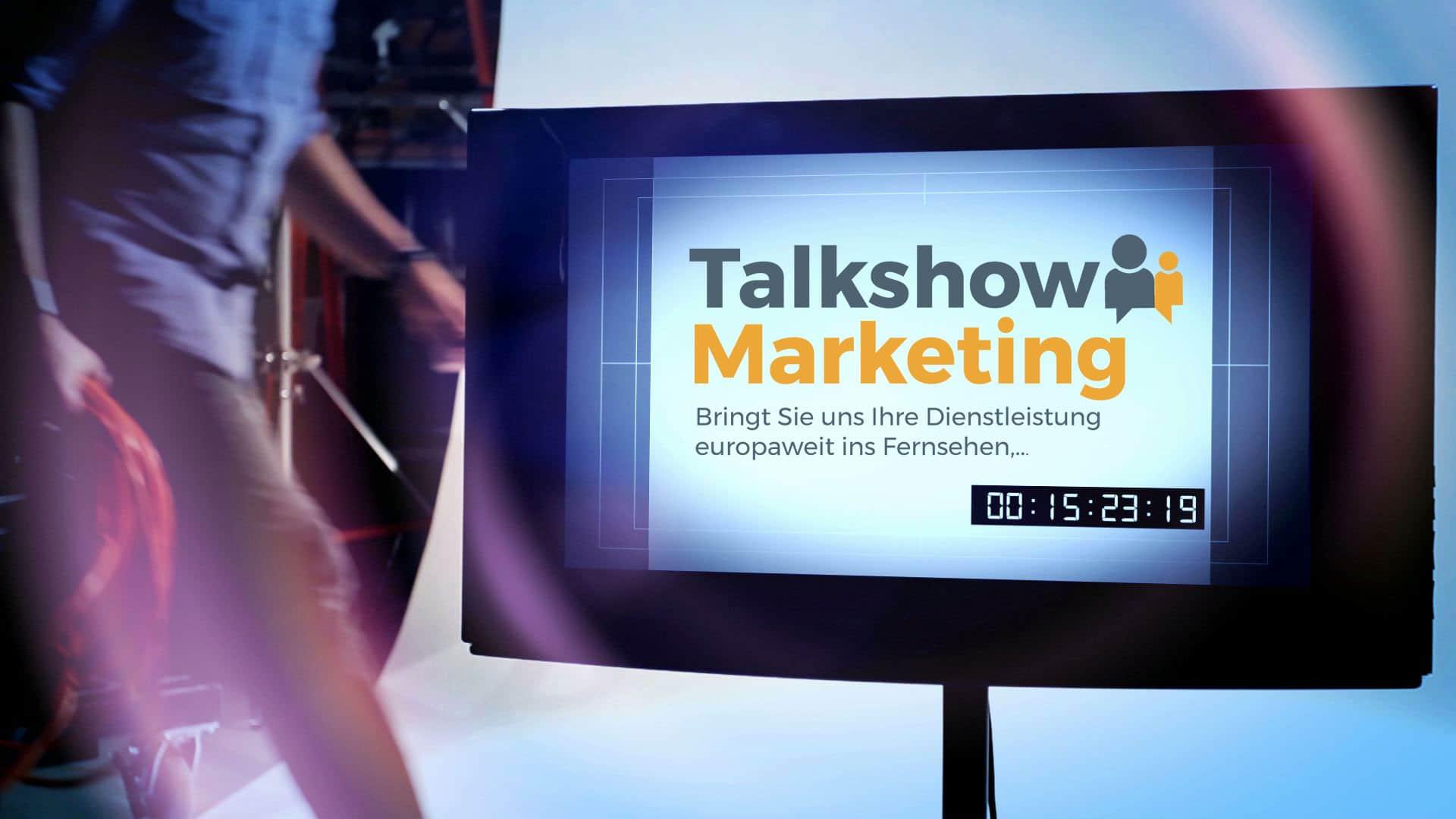 Talkshow Marketing. Ihre Talkshow. Sie und Ihre Dienstleistung im Fernsehen.