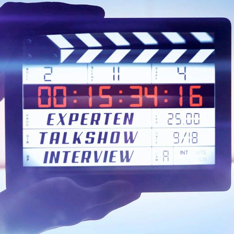 expertentalkshow: Ihre TV-Talkshow für Experten und Talkshow Marketing - Kameraklappe Interview