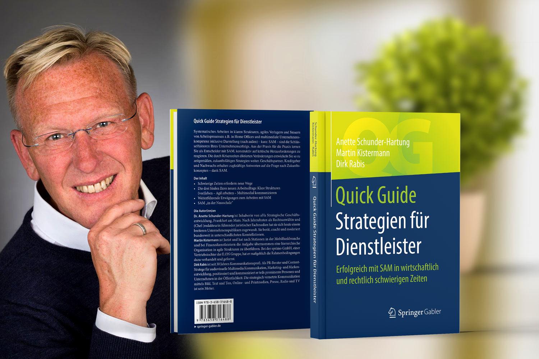 Buchautor und TV-Moderator Dirk Rabis. Online-Videotalk über Strategien für Dienstleister_Springer-Verlag